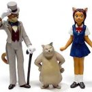 3 left - 3 Figure Set - Baron & Muta & Haru - Cat Returns - Ghibli - out of production (new)