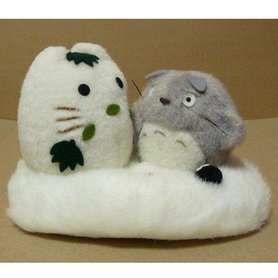 1 left - Plush Doll - H11cm - Totoro & Yukinko & Kurosuke - Sun Arrow - no production (new)