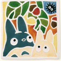 SOLD - Coaster - Ceramics - Chu & Sho Totoro & Kurosuke - Totoro - 2008 - out of production (new)