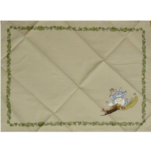 4 left- Lunch Mat - 33x44.5cm - Embroidery- Noritake - made in Japan - Totoro - no production (new)