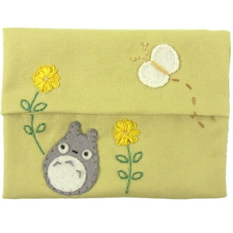 Pocket Tissue Cover - Applique & Embroidery - light yellow- Totoro - 2011 - no production (new)