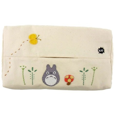 Tissue Box Cover -Applique & Embroidery-white- Totoro - Ghibli - Sun Arrow -2011-no production (new)