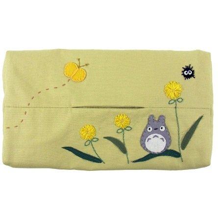 Tissue Box Cover - Applique & Embroidery - light yellow - Totoro - Sun Arrow - no production (new)