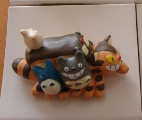 1 left - Ornament Figure - Handmade in Japan - Sho & Chu & Totoro & Nekobus - no production (new)