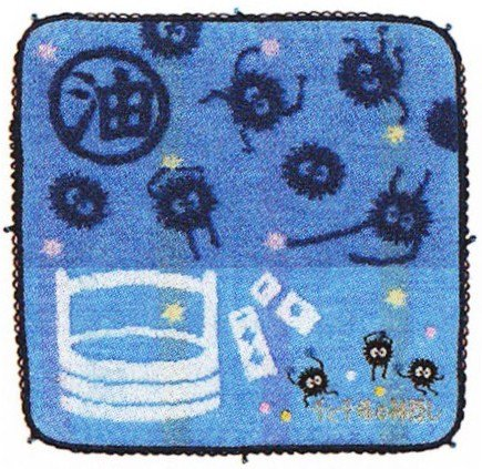 Mini Towel - 25x25cm - Susuwatari - Spirited Away - Ghibli - 2011 (new)