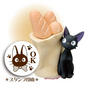 Rubber Stamp - Jiji & Bread - OK - made in Japan - Kiki's Delivery Service - Ghibli (new)
