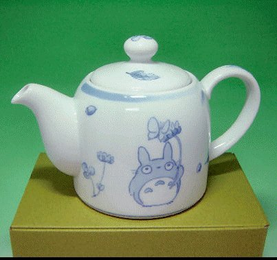 SOLD- Japanese Tea Pot - Noritake -White Porcelain- made in Japan - Totoro -no production (new)