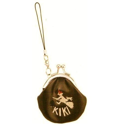Mini Purse Gamaguchi - Kiki & Jiji Embroidered - Hook & Strap Holder - Kiki's Delivery Service - 2011 (new)