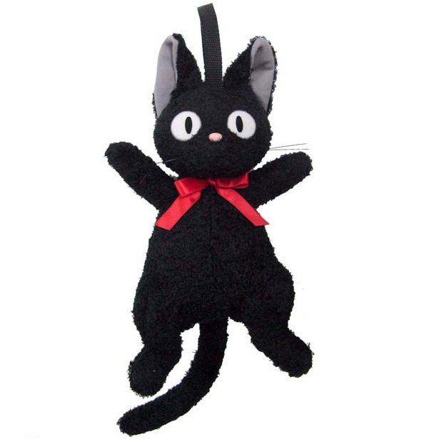 Pouch - Plush Doll - Hook & Strap Holder - Jiji - Kiki's Delivery Service - Ghibli - 2011 (new)