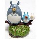 Music Box - Rotary - Porcelain - Totoro & Chu & Sho & Ocarina - Sekiguchi no production (new)