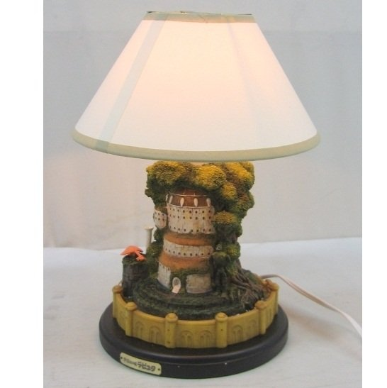 SOLD - Lamp Stand - Laputa Castle & Robot & Grave - Ghibli - out of production (new)