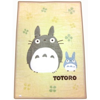 1 left - Blanket (L) 140x200cm - Acrylic & Carving - clover - Totoro - out of production (new)