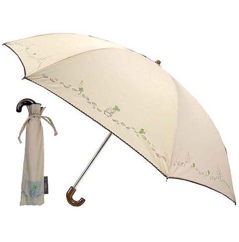 SOLD - Folding Umbrella & Case - beige - Clover - Totoro - 2010 - out of production (new)