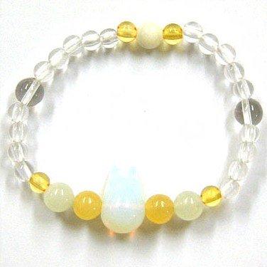 Bracelet - Natural Stone - Obsidian Opal & Calcite & Newjade- Sho Totoro - Ghibli - 2011 (new)
