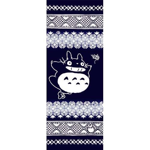 Towel / Tenugui -33x90cm- Edo- Japanese Dyed Made Japan - Totoro Ghibli no production (new)