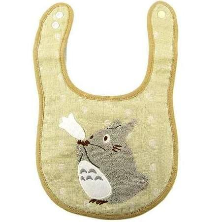 Baby Bib - Towel Cotton - Snap Button - Gray Totoro - Gift Box - 2009 (new)