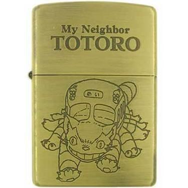 Zippo - Brass Case & Wooden Box - Serial Number - Nekobus - Totoro - 2009 - no production (new)