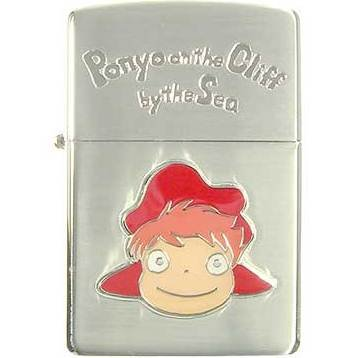 2 left - Zippo - Wooden Case - Silver Satin - Ponyo - Ghibli - 2009 - no production (new)