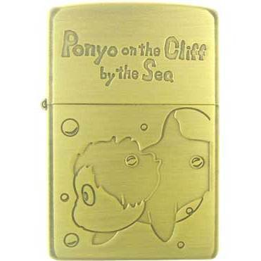 Zippo - Brass Case & Wooden Box - Serial Number - Ponyo - Ghibli - 2008 - no production (new)