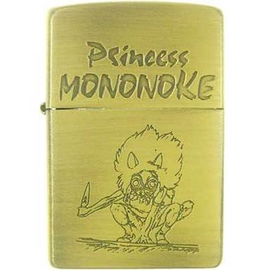 Zippo - Brass Case & Wooden Box - Serial Number - San - Mononoke - Ghibli - no production (new)