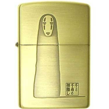 Zippo - Brass Case & Wooden Box - Serial Number - Kaonashi - Spirited Away - no production (new)