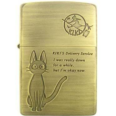 1 left - Zippo - Brass Case & Wooden Box - Jiji - Kiki's Delivery Service - no production (new)