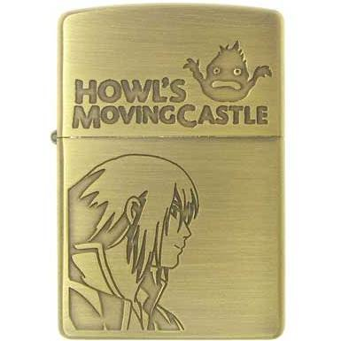 Zippo - Brass Case & Wooden Box - Serial Number - Howl & Calcifer - Howl's Moving Castle (new)