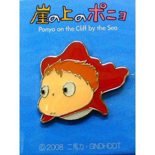 Pin Badge - Ponyo - looking left - yosomi - Ghibli - 2008 (new)