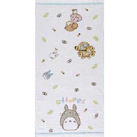 Bath Towel - 60x120cm - Gauze & Pile - Milkcrown - made in Japan - Totoro - Ghibli - 2008 (new)