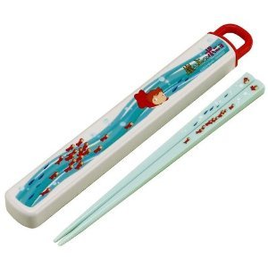 1 left - Chopsticks in Case - dishwasher - made in Japan - Ponyo - 2009 - no production (new)