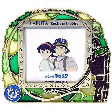 Stand Photo Frame - Stained Glass - Laputa Robot & Flying Stone & Pazu & Sheeta - Ghibli - 2007(new)