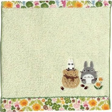 Mini Towel - Applique & Embroidery & Lace - Non Twisted Thread - Totoro - Ghibli - 2011 (new)