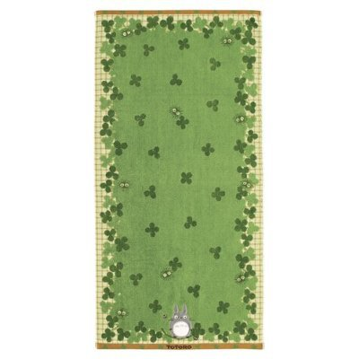 Bath Towel - NonThread Steam Shirring - Applique - Totoro & Kurosuke - Ghibli - 2011 (new)