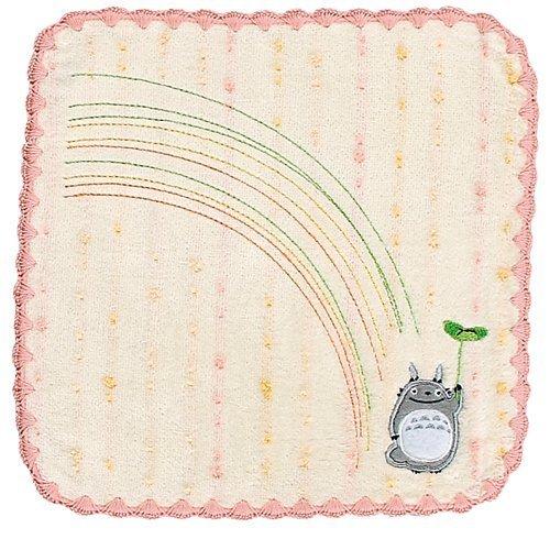 Mini Towel - Non-Twisted Thread - Totoro Applique - rainbow - pink - Totoro - 2007 (new)
