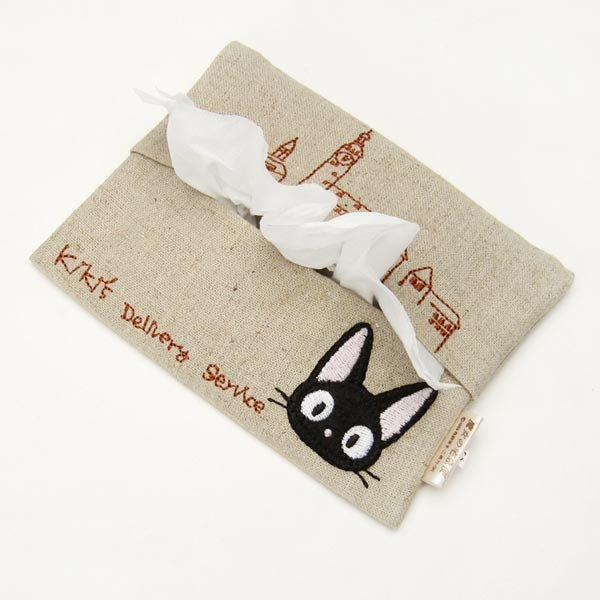 Pocket Tissue Cover - Applique Embroidery - Jiji & Lily - Kiki's Delivery Service - Sun Arrow (new)