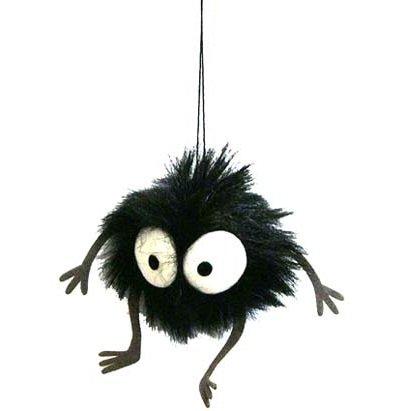Hook & Strap Holder - Plush Doll (S) - H9cm - Susuwatari - Spirited Away - Ghibli - 2012 (new)