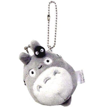 Coin Gamaguchi Purse - Plush Doll - Chain Strap Holder - Totoro & Kurosuke - Ghibli - 2012 (new)