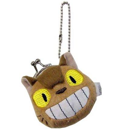 Coin Gamaguchi Purse - Plush Doll - Chain Strap Holder - Nekobus - Totoro - Ghibli - 2012 (new)