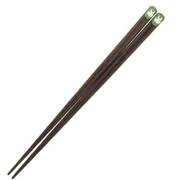 Chopsticks - Natural Wood - green - Made in Japan - Sho Chibi Totoro Ghibli 2012 no production