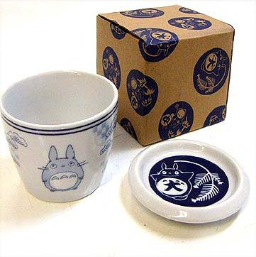 SOLD - Cup & Lid / Plate - Ceramics - microwave & oven - pine - Totoro - no production (new)