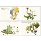 4 Message Card & 4 Envelope Set #1 - Hayao Miyazaki's Drawing - Made in Japan - Totoro Fund (new)