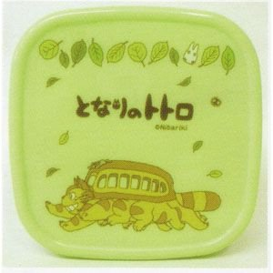 Bento Lunch Box / Tupperware - green - made in Japan - Totoro & Nekobus - 2012 - no production (new)
