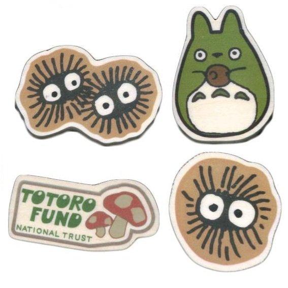 RARE 5left 4 Mini Magnet Natural Wood White Poplar Kurosuke Dust Bunny Totoro Fund Ghibli no product