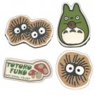 5 left - 4 Mini Magnet - Natural Wood White Poplar - Totoro & Kurosuke - Totoro Fund - Ghibli (new)