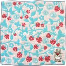 Handkerchief - Triple Layer Gaze - Embroidery - blue - made in Japan - Totoro - Ghibli - 2013 (new)