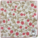 Handkerchief - Triple Layer Gaze - Embroidery - beige - made in Japan - Totoro - Ghibli - 2013 (new)