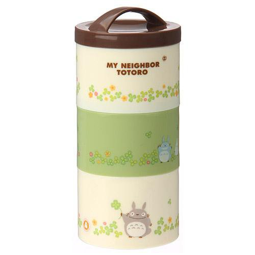 3 Tier Bento Lunch Box -480ml- microwave & dishwasher - made in Japan - Totoro - Ghibli - 2013 (new)