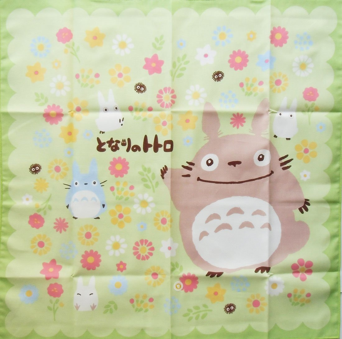 Lunch Bento Cloth - 43x43cm - made in Japan - flower - Totoro - Ghibli - 2013 (new)