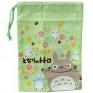 Mini Kinchaku Bag - flower - made in Japan - Totoro - Ghibli - 2013 (new)