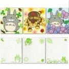 Notepad - 3 Designs - each 50 pages - Totoro & Nekobus - Ghibli - 2013 (new)